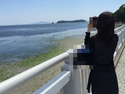 出会い系の女の子と海デート