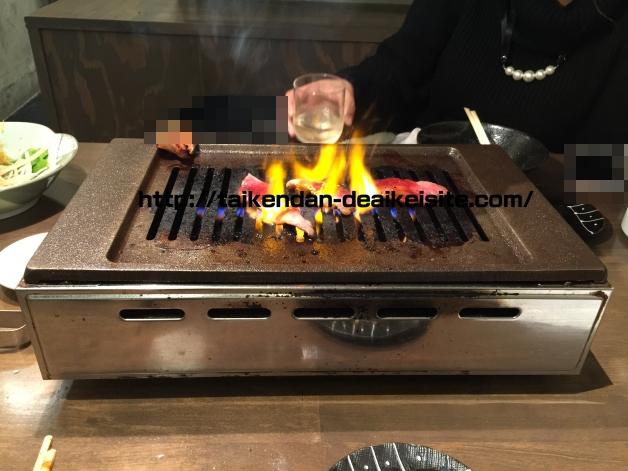 ハピメアプリの女と焼肉